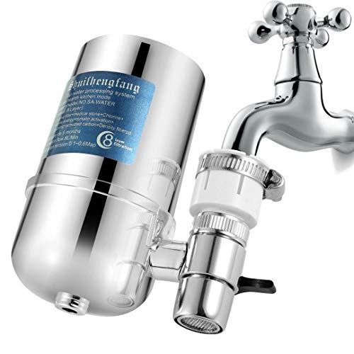 Faucet Mount Water Filter,Water Filtration System Purifier for Standard Faucets, ABS Shell