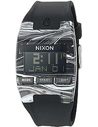 Nixon Men's 'Comp' Plastic and Silicone Automatic Watch, Color:Black (Model: A4082193-00)