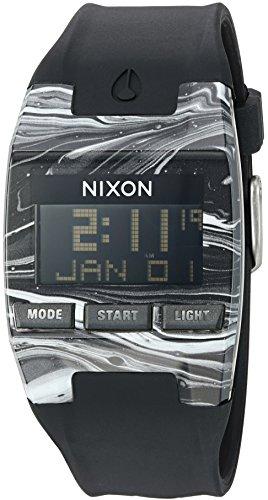 Nixon Men's 'Comp' Plastic and Silicone Automatic Watch, Color:Black (Model: (Comp Gear)