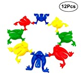 TOYMYTOY Plastic Jumping Leap Frog Toy | 12Pcs, Playing Parties Gifts Party Favors for Kids