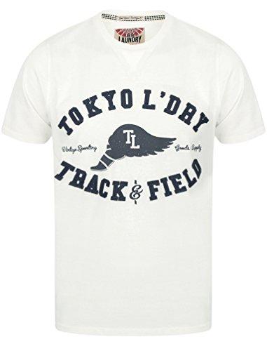 Avorio Corte T shirt Tokyo Laundry Maniche Uomo vq6qa4xYw