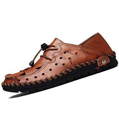 SHOES-XJIH&Hombre de sandalias de verano tacón plano ocasional de látex otros negro azul marrón gris otros,Blue,US10 / UE43 / UK9 / CN44