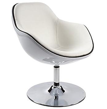 Alterego Style Design Pivotant Blanc Fauteuil 'kok' RetroAmazon OPN8n0wkXZ