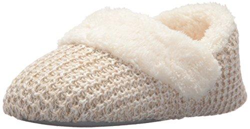 Womens Dearfoams Bootie Oatmeal Knit Sweater Heather Dearfoams Womens 7H4q7