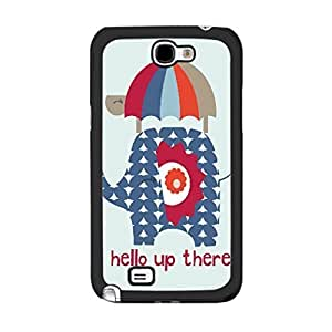 Lovely Cute Animal Print Cute Colorful Elephant Design Girls Cover Case for Samsung Galaxy Note 2 N7100 Unique Plastic Cell Phone Skin (turtle umbrella) Kimberly Kurzendoerfer