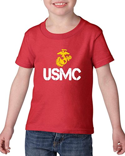 ARTIX USMC US Marine Corps People Fashion Clothing Best Friend Xmas Mothers Day Gifts Heavy Cotton Toddler Kids T-Shirt Tee Clothing 5T Red]()