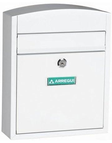 Arregui E5731 Buzon para exterior de acero modelo Compact color blanco. Dimensiones (Altoxanchoxfondo)