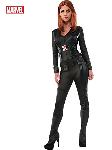 (Secret Wishes Women's Marvel Universe, Captain America: The Winter Soldier, Deluxe Black Widow Costume, Multicolor,)