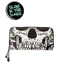 Banned Black Skull Face Wallet - Black / One Size