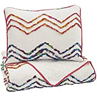 Ashley Furniture Signature Design - Lancentera Quilt Set - Includes Quilt & 2 Shams - Twin Size - Zig Zag Multi Colored