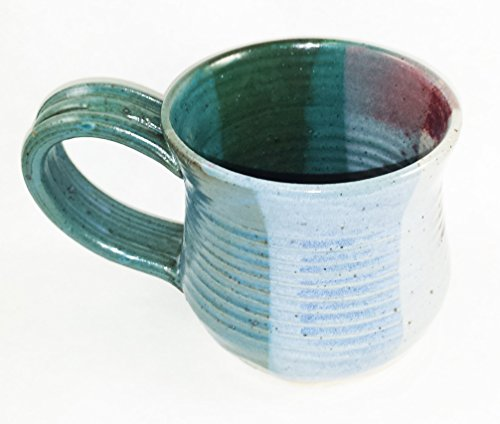 [Aunt Chris' Pottery - Hand Made Clay Soup Bowl - With Handle - You Can Spoon It Out - Drink It Right Of The Bowl - Microwave, Oven And Dishwasher Safe] (Clay Art Stoneware Bowls)