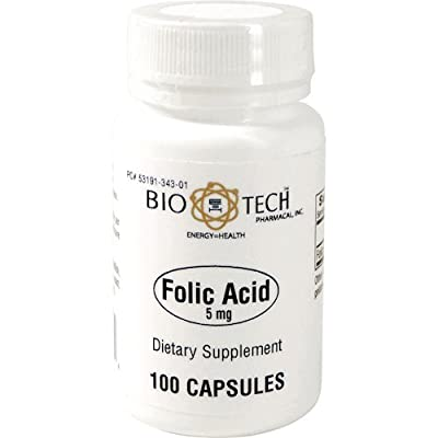 BioTech Pharmacal - Folic Acid (5mg) - 100 Count