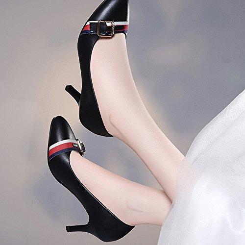 Chaussures EU Soirée Travail Haute Talons UK De Filles 35 Noir Mariage Mode Discothèque Femme 3 Cour 7cm Black Chaussures Sexy gRqa0xnw