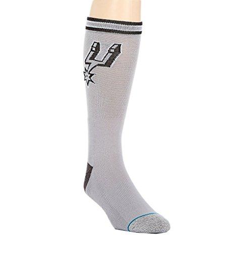 Stance Unisex Spurs Arena Logo Grey Socks LG