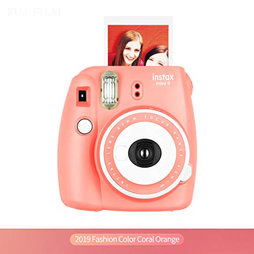Fujifilm Instax Camera Mini 9 Coral Orange Instant Film Camera Yellow Automatic Instant Film Photo Camera 2019
