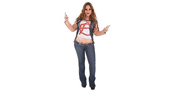 LLOPIS - Disfraz Adulto Camiseta rockera: Amazon.es: Juguetes y juegos