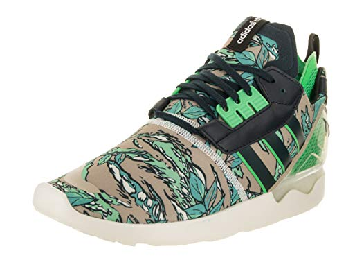 Adidas Men ZX 8000 Boost Originals Running Shoe Petrol Ink/Semi Flash Green/Cream White