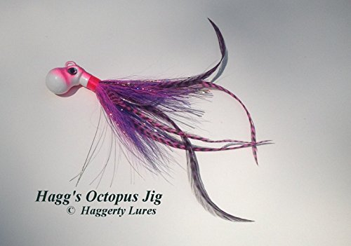 Cobia-Octopus Bucktail Jig-Pink Purple-Saltwater Fishing Lure-Striper Grouper Bluefish Offshore