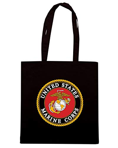 Speed Shirt Borsa Shopper Nera TM0428 MARINES IN USE