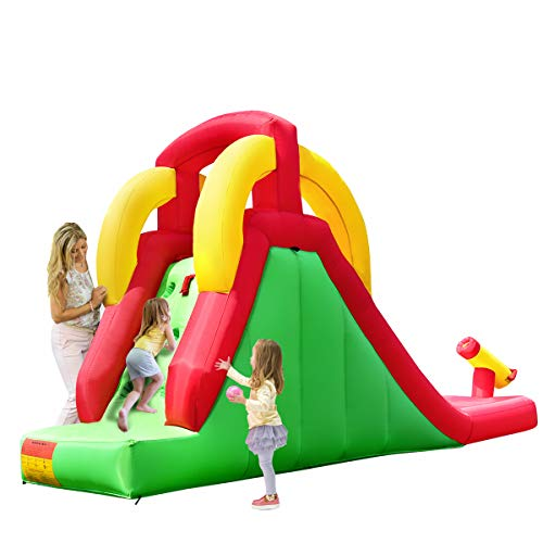 Costzon Inflatable Water Slide, Climb and Slide Bouncer for Kids Without Blower by Costzon (Image #1)