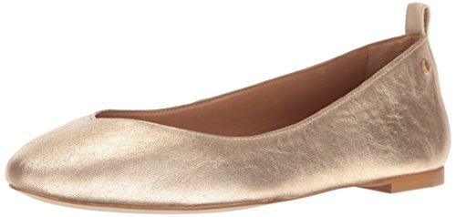 Ugg Womens Lynley Metallic Ballet Flat Gold