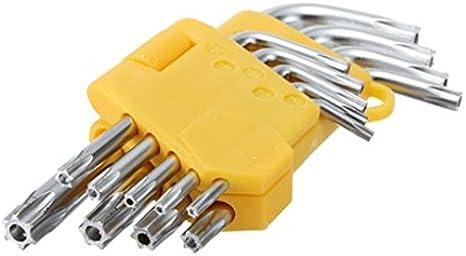 9pc//Set Offset Hex Star Key Safety Anti Tamper Proof TorxBit Wrench L-Shape