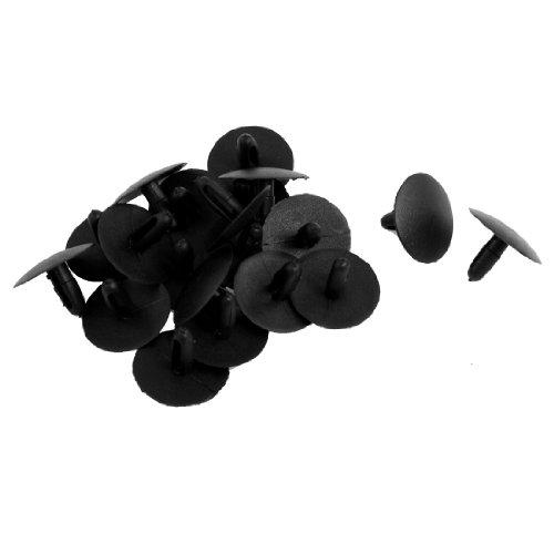 (uxcell a12050900ux0040 Black Plastic Rivet Fastener, 20)