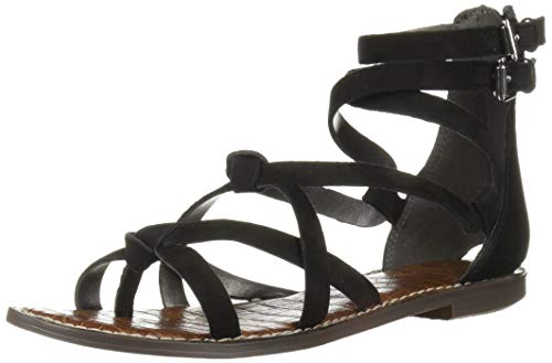 (Sam Edelman Women's Gaton Sandal, Black Leather, 8.5 M US)