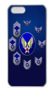 IMARTCASE iPhone 5S Case, United States Air Force Enlisted Stripes PC Hard Case Cover for Apple iPhone 5S Transparent