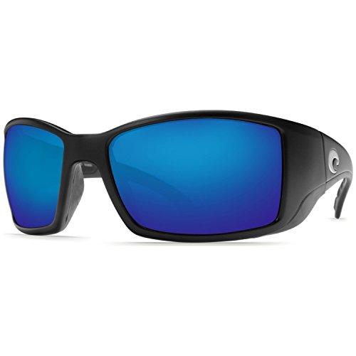 Costa Del Mar Blackfin Sunglasses, Black, Blue Mirror 400G - Mar Costa 400g Del