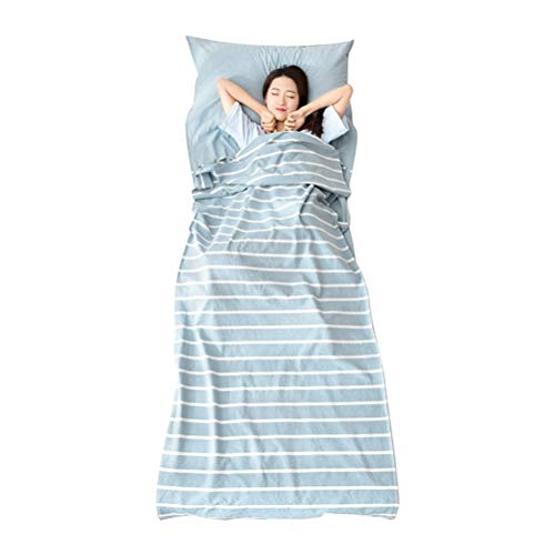 Zhhlinyuan Sleeping Bag Liner Travel Sheet Hygienic Liner with Pillow Case Outdoor