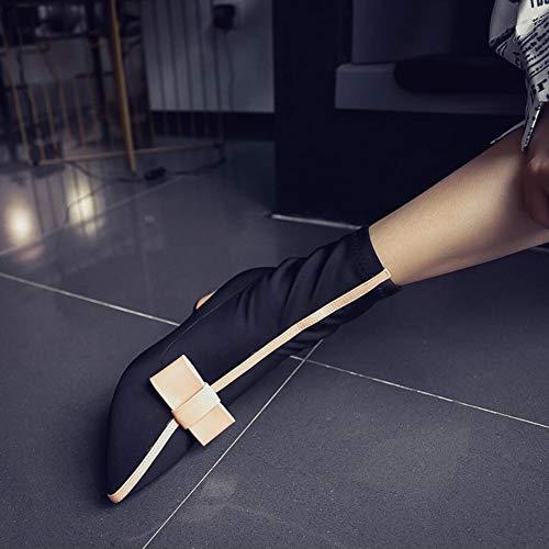 Formales Botas Pierna Mujer Botines Cuero Invierno Estrecha Plataforma Medio Moda Zapatos Punta De Tacón Puntiaguda Media Segundo qAwHxnUUv