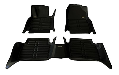 TuxMat Custom Car Floor Mats for Hyundai Kona Electric 2019 Model - Laser Measured, Largest Coverage, Waterproof, All Weather. The Best Hyundai Kona Electric Accessory (Full Set - Black) ()