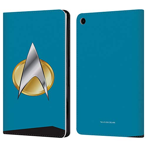 Official Star Trek Sciences Uniforms and Badges TNG Leather Book Wallet Case Cover for Amazon Fire HD 8 (2017) ()