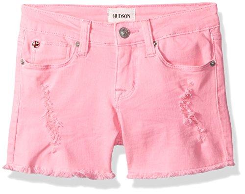 HUDSON Girls' Big Fashion Short, Neon Pink, 10 ()