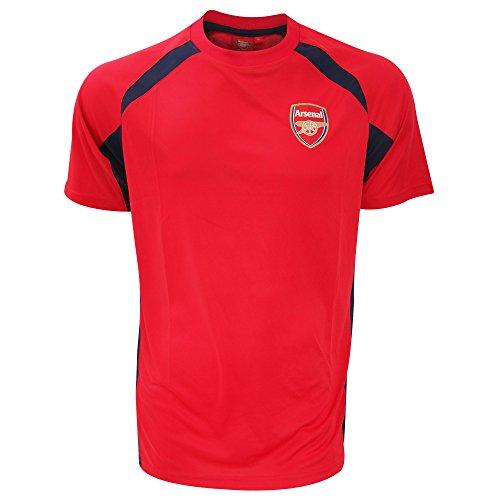 Arsenal Men's Crest Panel T-shirt – Pink/black, Large – DiZiSports Store
