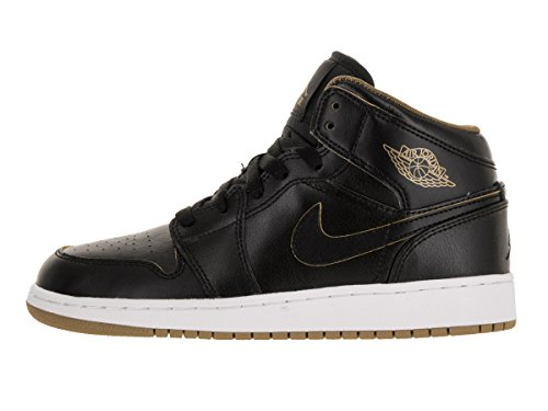 Air Chaussures Gold Mid White BG 1 Jordan Sport de garçon Metallic Black NIKE 1Hqwd1