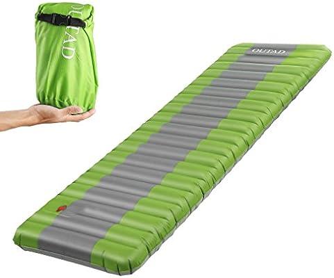 Isomatte Camping Schlafmatte Ultraleicht Aufblasbare Luftmatratze Grün Outdoor