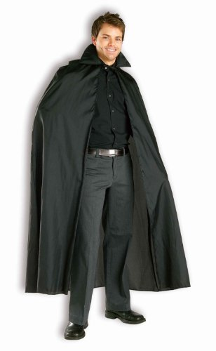 Phantom Wig (Forum Novelties Women's 56-Inch Long Vampire Costume Cape, Black, One Size)