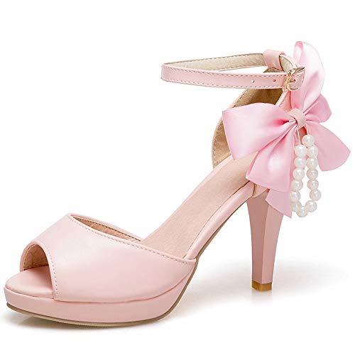 Soir Sandales Talon Zpfme Haut Escarpin Femmes Bout Ouvert Pink Dansant Elegant pBwpqXt1