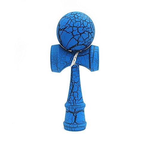 木製アウトドアスポーツおもちゃけん玉クラックBeech木製おもちゃボール子供&大人のおもちゃアウトドアジャグリングボール B075LJQHVL ブルー