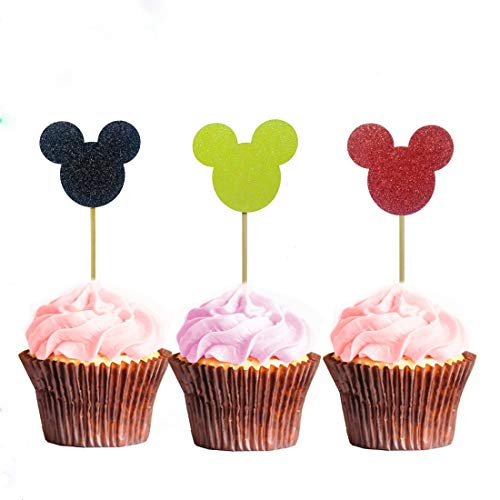 Morndew 24 PCS Mickey Mouse inspired Black Yellow