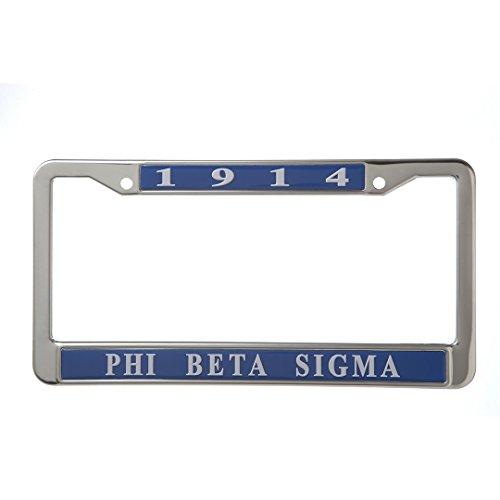 Plate Beta Sigma Phi License (Phi Beta Sigma Fraternity New Metal License Plate Frame)