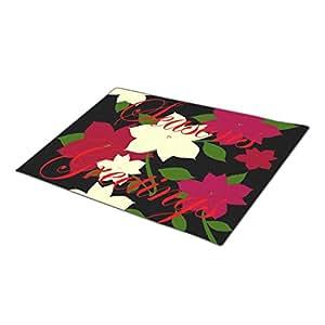 Custom Doormat Seasons Greetings Poinsettia Funny Door Mat
