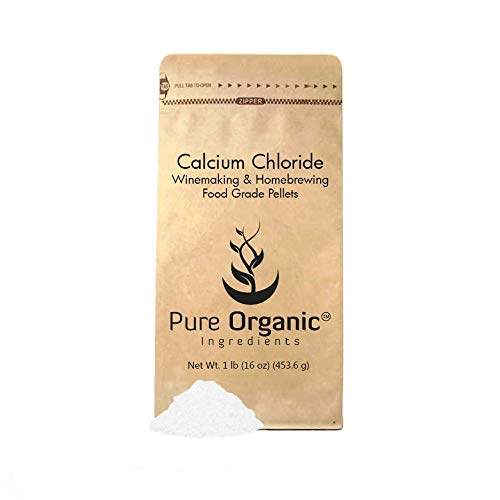 Calcium Chloride (1 lb.) by Pure Organic Ingredients, Eco-Friendly Packaging, Highest Quality, Food Grade, For Wine Making, Home Brew, Cheese Making