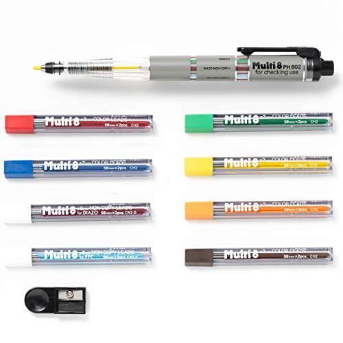 Pentel Pencil Lead Holder and Lead Set, Multi 8 Set (PH802ST)