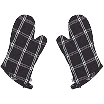 Now Designs 2117010aa Classic Oven Mitt, Set of Two, Tic Tac Toe Plaid