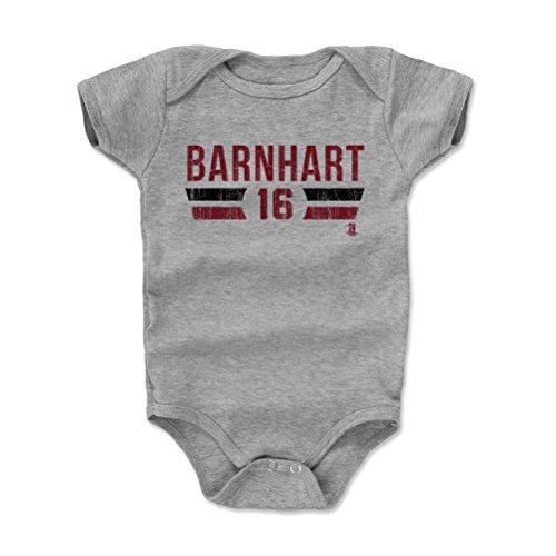 500 LEVEL Tucker Barnhart Baby Clothes, Onesie, Creeper, Bodysuit 3-6 Months Heather Gray - Cincinnati Baseball Baby Clothes - Tucker Barnhart Cincinnati Font R