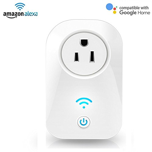 YAHEY Wi-Fi Smart Switch Plug, Works with Alexa and Google Assistant Timer Socket Wi-Fi Switch Timing Function Remote Control, - Mall White Plans