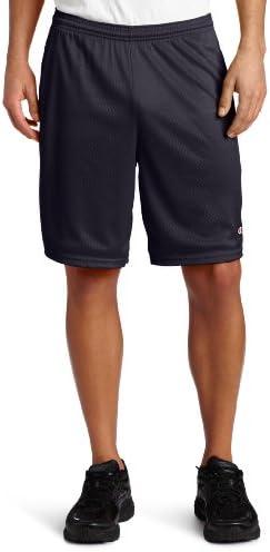 Champion Pantalones cortos de malla con bolsillos, para hombre